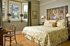 Room 3 at Hoyt House Bed & Breakfast Inn in Amelia Island, FL. Amazing headboard!
