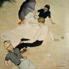 A Picnic: Louis le Brocquy, 1940