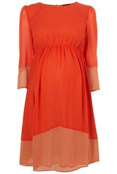 orang, color, matern dress, maternity dresses