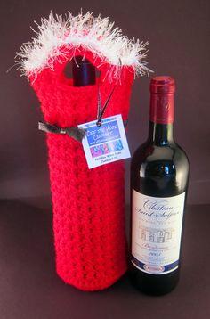 Holiday Wine Tote (Santa) via Etsy.