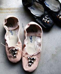 Studded ballet flats.