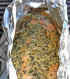 It was great. Grilled Citrus Salmon (marinade = 1.5 Tbl. lemon juice, 2 Tbl. olive oil, 1 Tbl. butter, 1 Tbl. Dijon mustard, 4 garlic cloves, minced, 2 dashes cayenne pepper, 2 dashes salt, 1 tsp. dried basil, 1 tsp. dried dill, 2 tsp. capers) > combine over medium heat > slather onto salmon > grill for about 15 mins