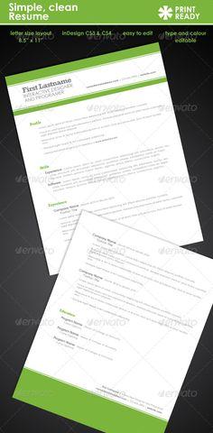 simple graphic design resume template .