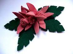 1940s felt flower