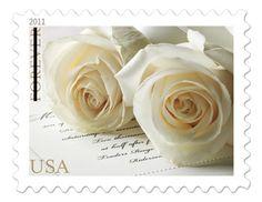 white roses, wedding invitations, beauti stamp, white weddings, stamps