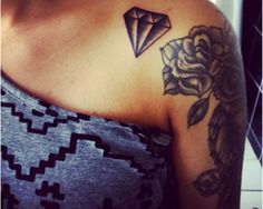 Diamond tattoos are a symbol of extravagance and symbolize everlasting love through marriage.