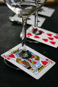 Use deck of cards for any decor...poker party nite