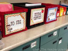 Organizing in your classroom!
