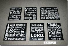 Subway Art with Bible Verses