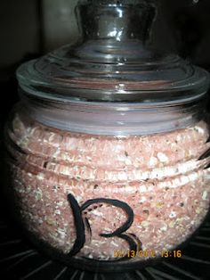 "Black cherry vanilla oatmeal bath salts!!! Homemade ""sweets"" for friends and family!!! baths, oatmeal bath, homemade sweets, homemad gift, bath salts homemade, beauti, cherries, gift idea, black"