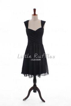 Black Bridesmaid Dress Short Homecoming by LittleRufflesBridal, $86.99