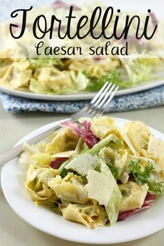 Tortellini Caesar salad - an easy way to make your favourite salad into a full meal!
