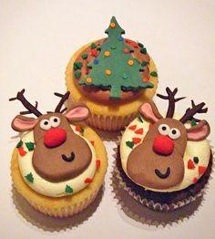 Christmas_Cupcakes, reindeer cupcakes, christmas tree cupcakes, super cute!!