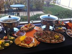 Simple Appetizer Buffet for an afternoon cocktail party