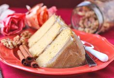 Healthy Pumpkin Cake with a Special Spiced Butterscotch Frosting