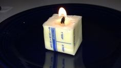 Butter + toilet paper = candle. If you find yourself in a blackout without any candles, here's what to do. #candle #DIY