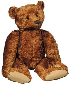 The famous Steiff button-in-the-ear was used from 1904. This bear's underscored 'F' button was used from 1905 to 1950.
