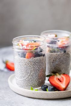 This 3-Ingredient Chia Pudding is made with almond milk, chia seeds & sweetener of choice; it's a healthy snack loaded with protein, fiber and healthy fats! | Chia Recipes | Healthy Pudding | Healthy Snacks | #chia #pudding #healthyrecipes #feelgoodfoodie
