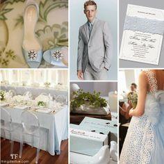 Pantone's Placid Blue Wedding Inspiration ideal for Spring.  #wedding #spring #pantonespring2014 #placidblue #lightblue