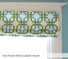 Flat Roman Blind in Groovy Grille Confetti  only 225.00 #toniclivingdreamroom #homedecor