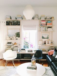 White open shelving!