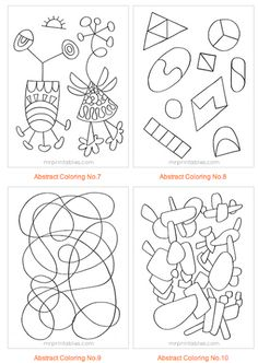 Abstract Coloring Pages for Kids [Printable]