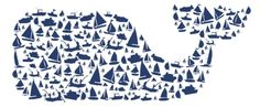 whale and sail boats love.