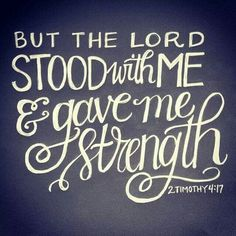 Strength comes from the Lord