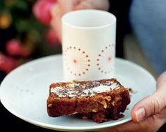 Bill Granger adds flavour and texture to his banana bread with cinnamon and chopped almonds