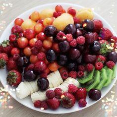 fit, fruit salads, breakfast, drink, plate