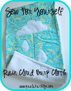 Burp Cloth #baby #sewing #diy