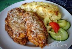 Tejfölben+pácolt+csirkemell+tepsis+reszelt+krumplival