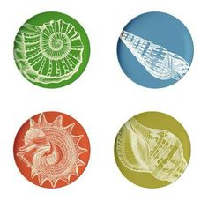 Graphic melamine plates add fun to outdoor dining. | $25
