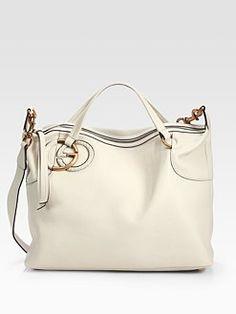 Gucci Twill Leather Large Shoulder Bag Splash 49