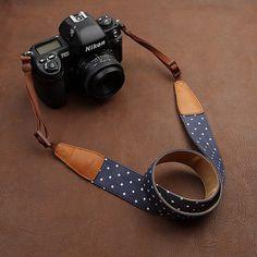 CUTE Camera Strap  ! Leather DSLR Camera Strap for Nikon by camerasbagstraps, $32.99 #ElementsWishList