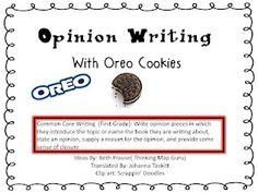 oreo classroom, idea, school, persuas write, personal narratives, oreo opinion, opinion write, grade, ela