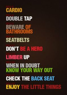 zombieland, remember this, life lessons, twinki, taps, movi, zombie apocalypse, the rules, zombies