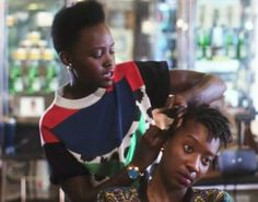 Lupita N'yongo is an expert in braiding hair- who knew? I just want to know how I can make an appointment #agirlcandream