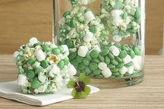 St. Patrick's Day Treats Green popcorn balls