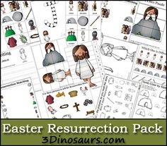 Free Easter Resurrection Pack  for ages 2 to 7 - 3Dinosaurs.com
