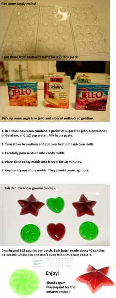 No-carb low calories gummy candy!