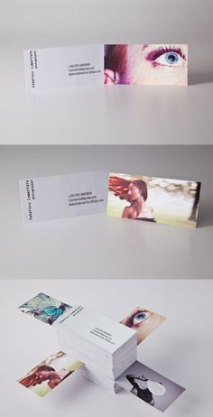 Personal Photographer Cards - Independent photographer Frederico Lomartire offers his identity card with his own style. With various images and art to choose from, he can offer his business card with the appropriate picture to the right individual. Cropping and zooming to a distinct part of each image makes them really stand out.
