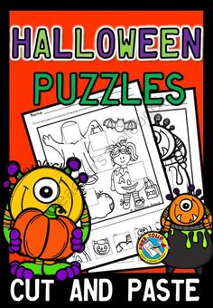 HALLOWEEN THEMED PUZZLES - CUT AND PASTE THE MISSING PIECES from FREEYOURHEART on TeachersNotebook.com -  (6 pages)  - Children will love these Halloween themed puzzles!!! Students have to cut out the pieces at the bottom of the page and stick them in the correct place to complete the picture.