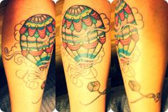 Hot-air balloon tattoo