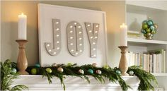 DIY Lighted Joyful M