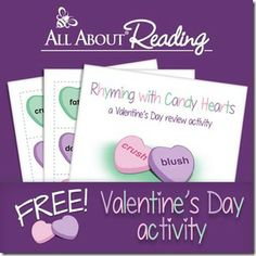 Rhyming Sweethearts Activity (free; from 2 Teaching Mommies)