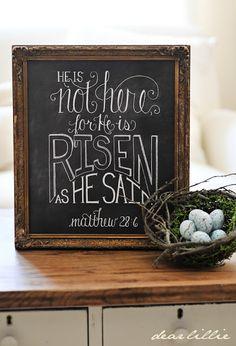 He is risen!  Matthew 28:6
