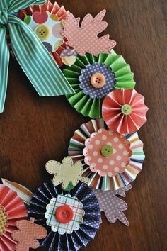 Simply Autumn Paper Wreath
