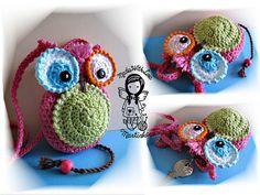 Crochet PATTERN 5  Key Case My Little Owl by NellagoldsShop, €3.49