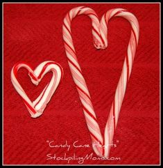 How To Make Candy Cane Hearts  http://www.stockpilingmoms.com/2012/12/how-to-make-candy-cane-hearts/